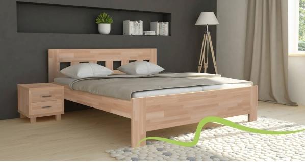 TEXPOL JANA SENIOR - masivní buková postel, buk masiv