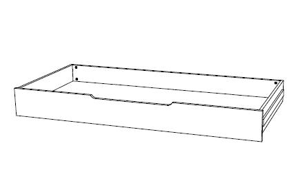 Ahorn Zásuvka DUOVITA - úložný prostor pro rozkládací postel Duovita dub bílý, lamino