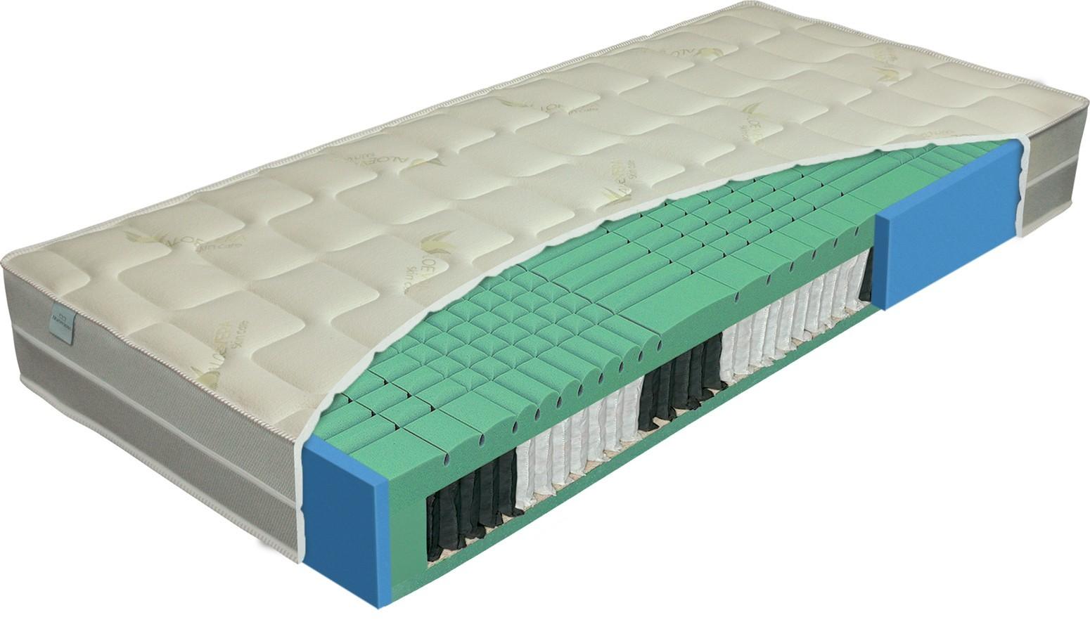 Levně Materasso ALOE senior - přírodní pružinová matrace se zpevněnými boky 90 x 210 cm