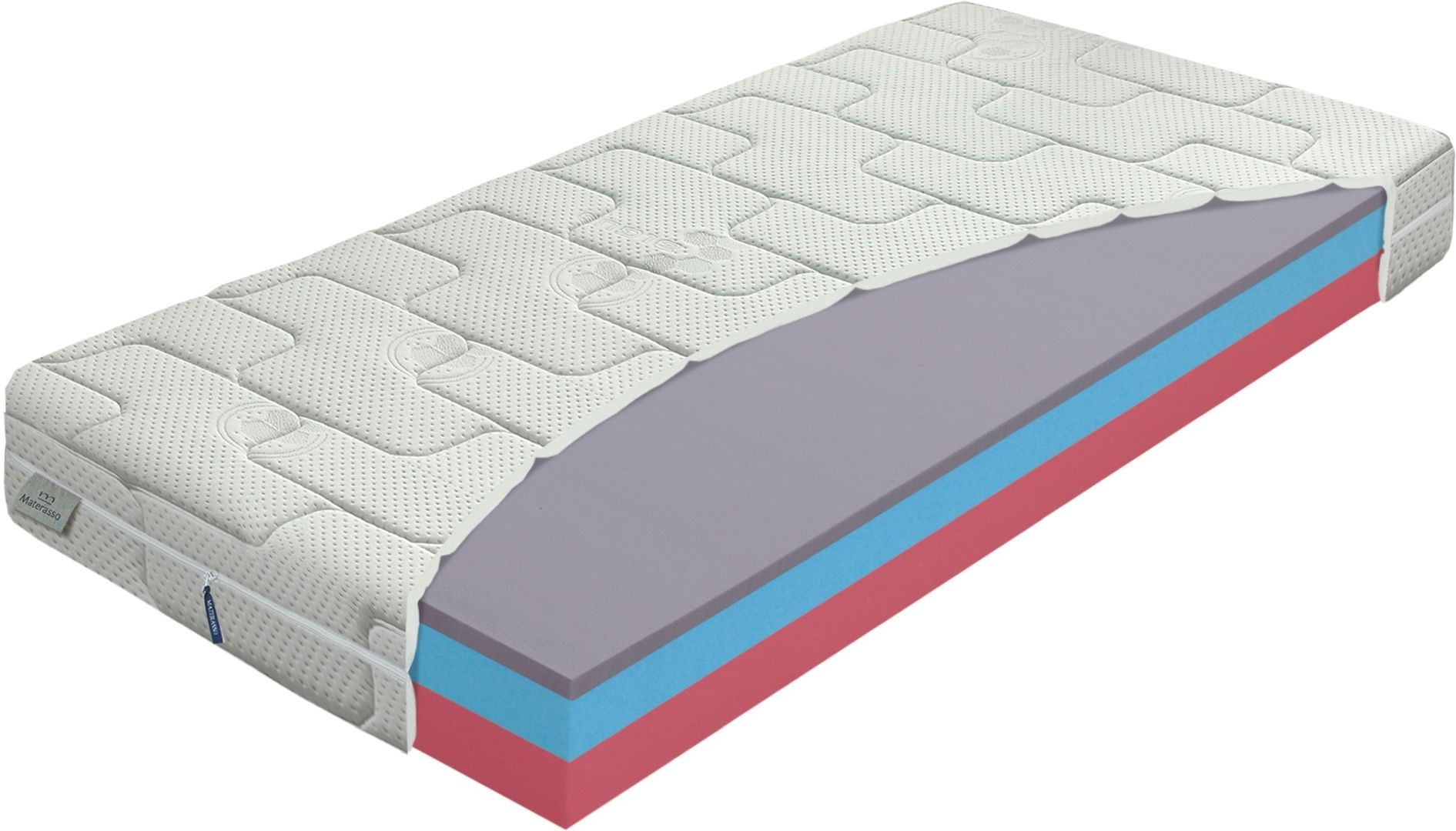 Materasso AIRGEL comfort - oboustranná ekonomická matrace v akci 1+1 120 x 200 cm 2 ks, snímatelný potah