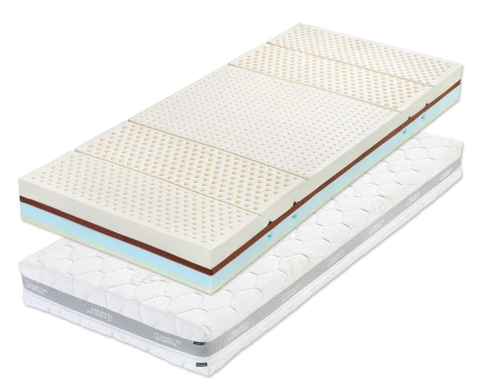 Slumberland LATEX MILA - matrace s latexem a línou pěnou 90 x 190 cm 2 ks, snímatelný potah