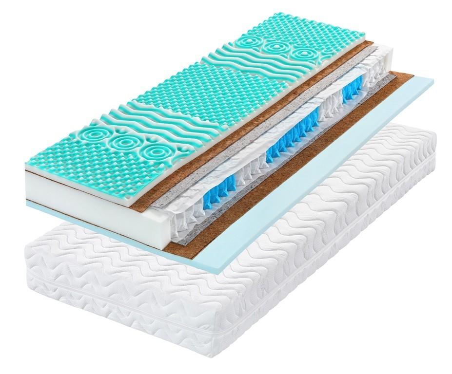 Tropico STREAM KOKOS 22 - tužší matrace se zónovou zdravotní profilací 220 x 220 cm, snímatelný potah