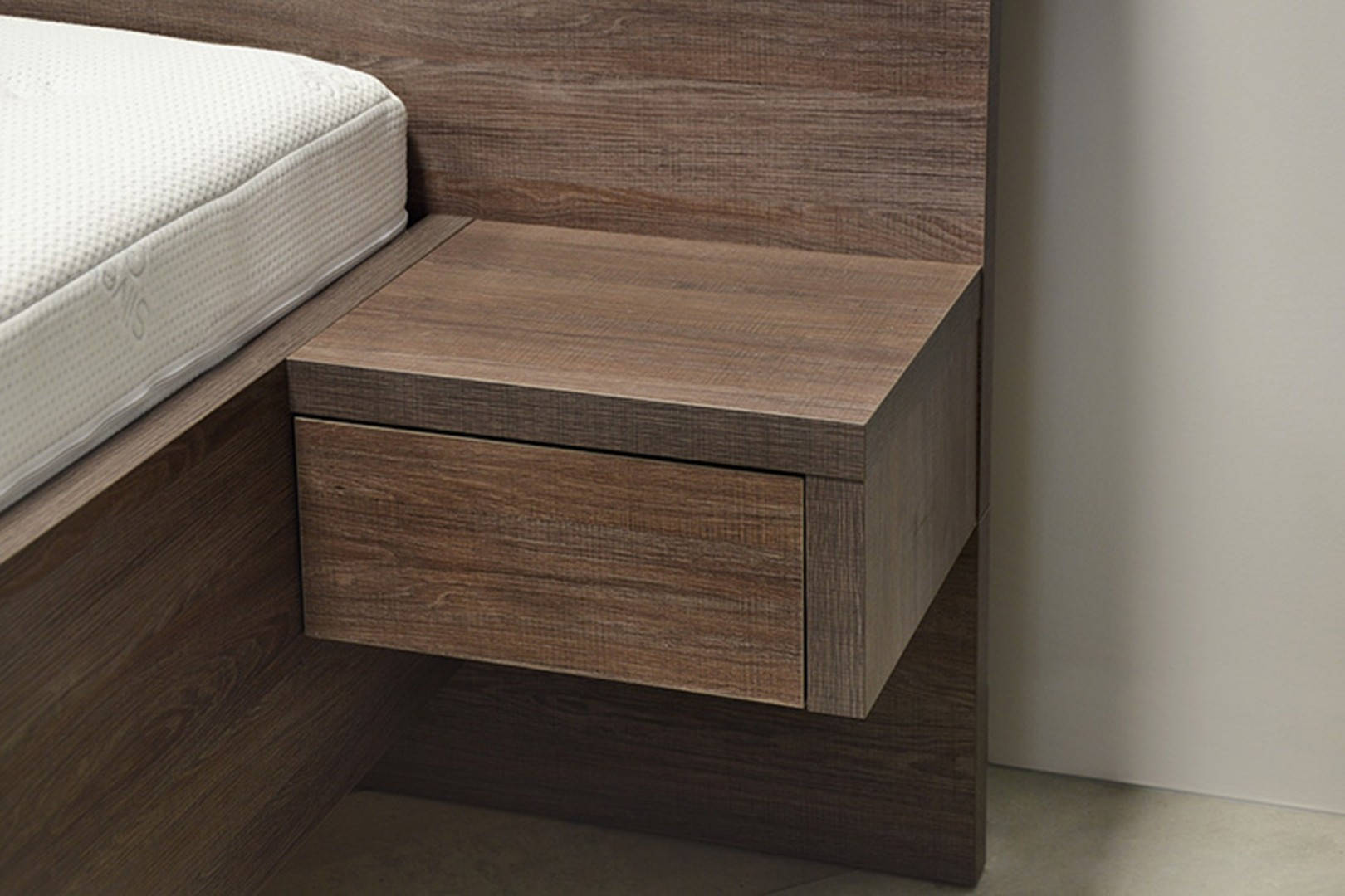 Ahorn JEDNOZÁSUVKA - noční stolek k posteli SALINA LEVÁ/PRAVÁ (dekor dub bílý)