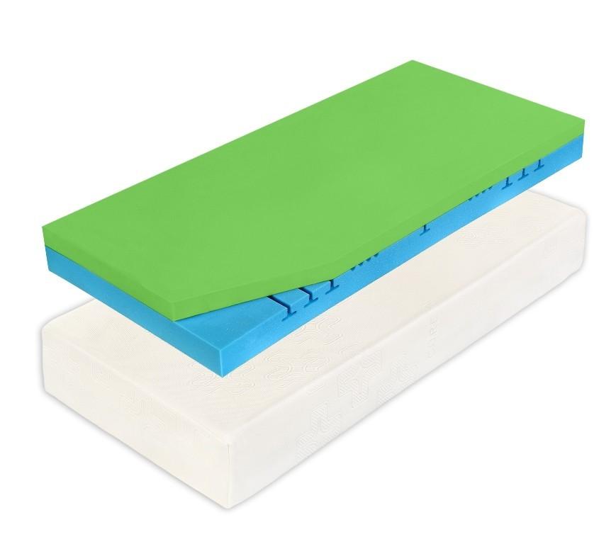 Curem CUREM C2000 Style - tuhá paměťová matrace 220 x 220 cm, snímatelný potah