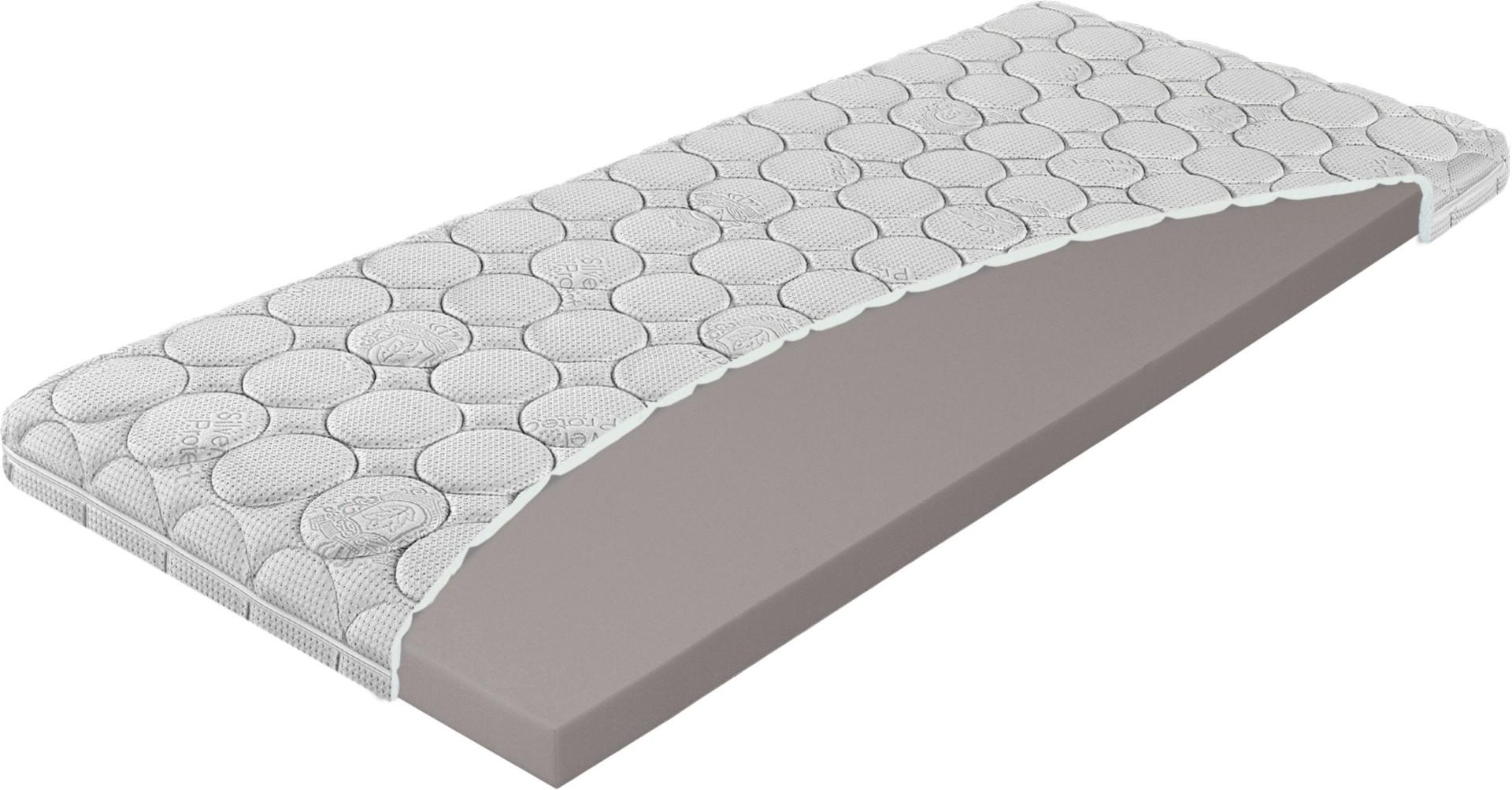 Levně Materasso TOP NIGHTFLY 7 cm - středně tuhá přistýlka v potahu Silver 80 x 220 cm