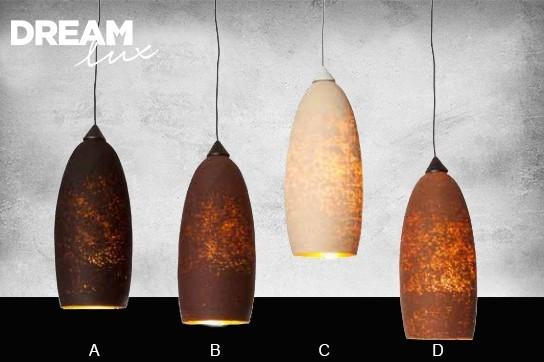 DreamLux Designová lampa kokon černá (A)
