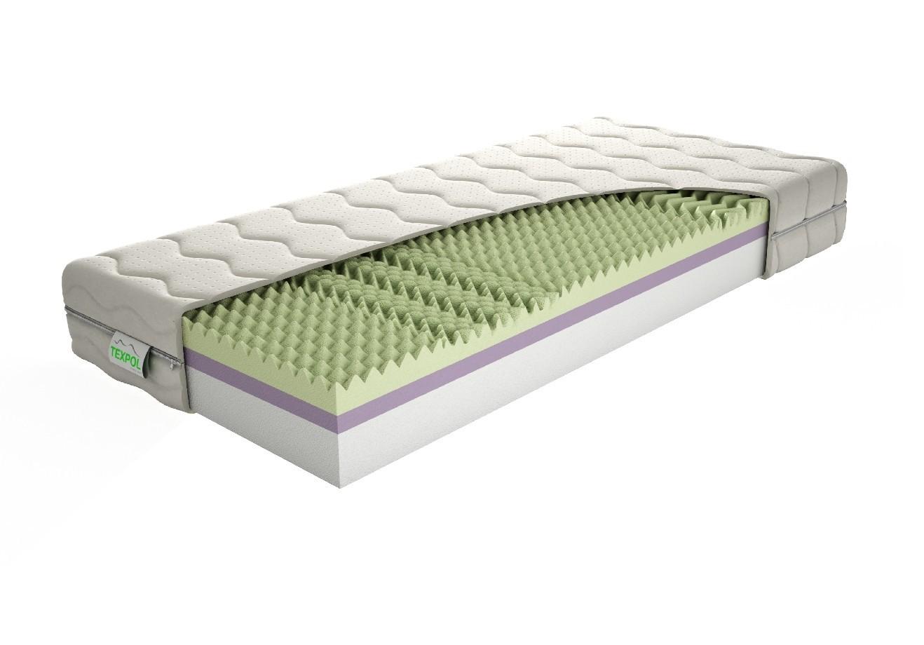 TEXPOL Sendvičová matrace ANETA - tvrdá oboustranná matrace 85 x 190 cm, snímatelný potah