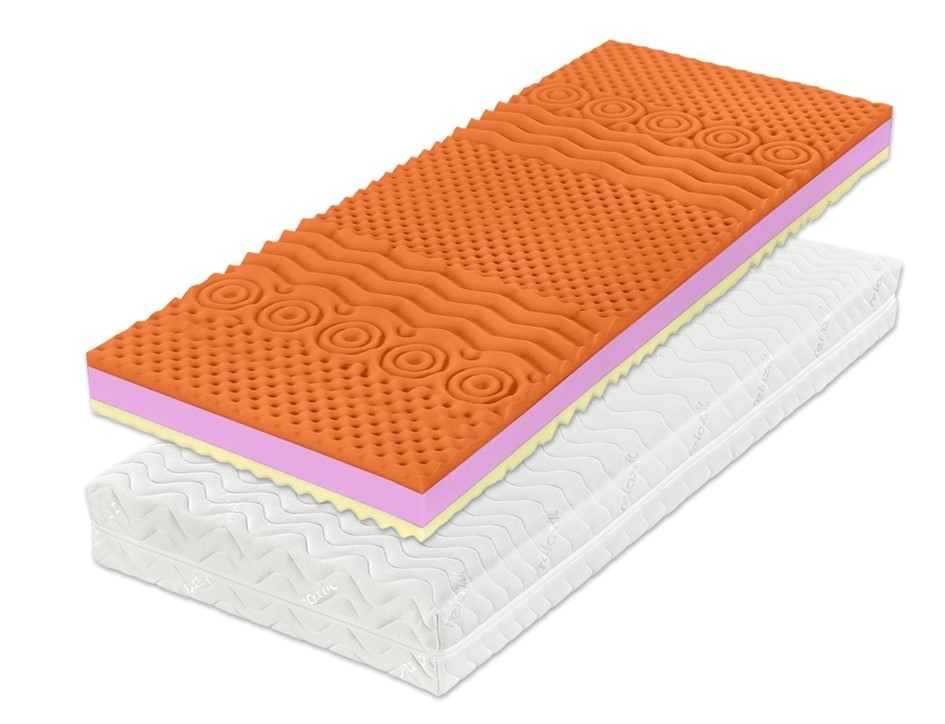 DreamLux WANDA HR WELLNESS - matrace ze studené pěny 100 x 220 cm, snímatelný potah