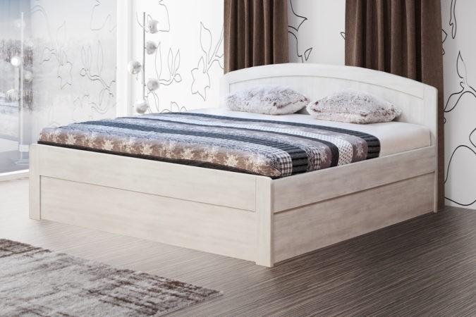 BMB MARIKA ART - kvalitní lamino postel s úložným prostorem 140 x 200 cm, lamino
