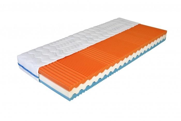 Moravia Comfort GYLFI 18 cm - zdravotní matrace s línou pěnou 220 x 220 cm, snímatelný potah