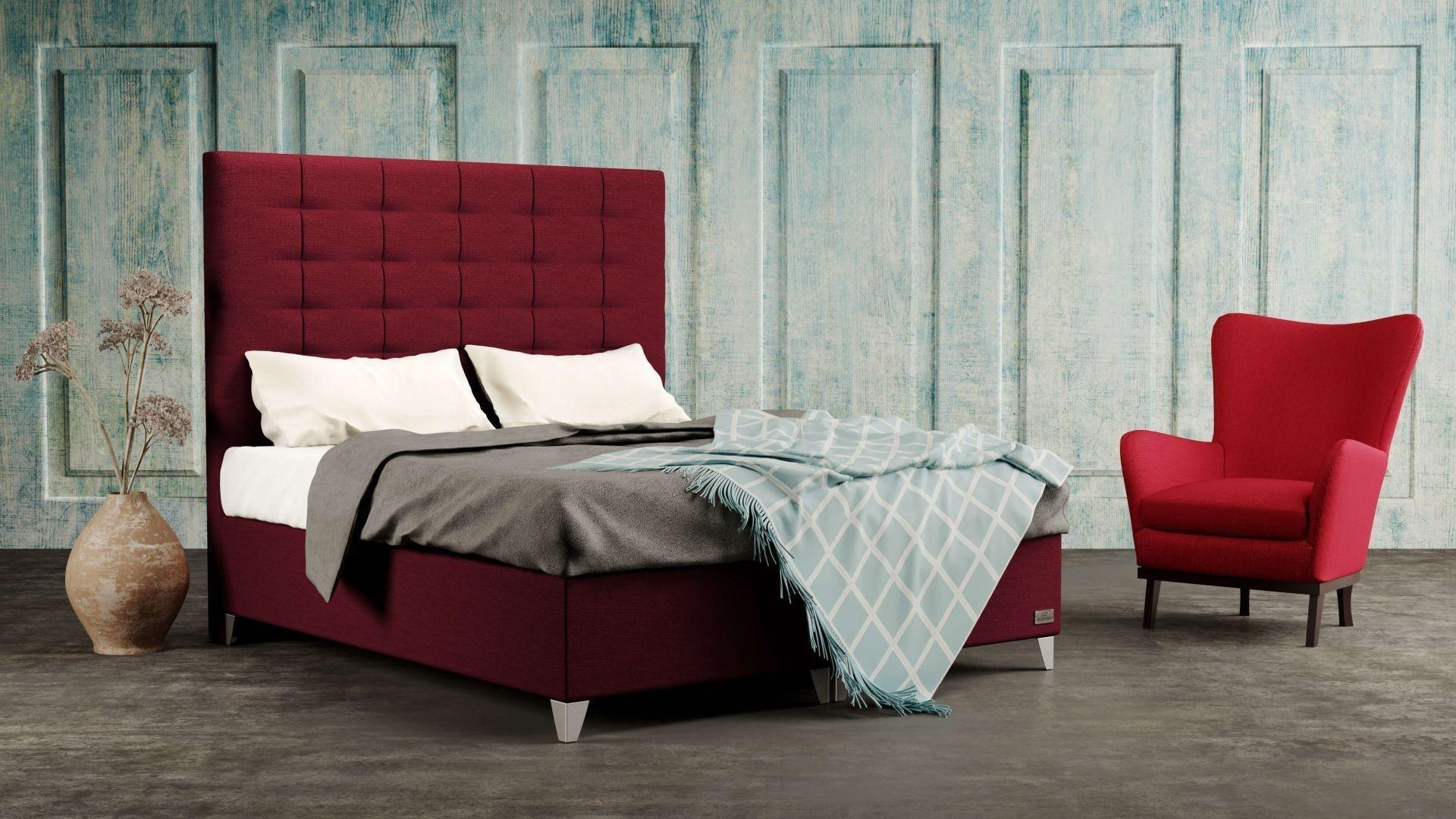 Levně Materasso WILD - designová čalouněná postel s vysokým čelem (typ potahu D)