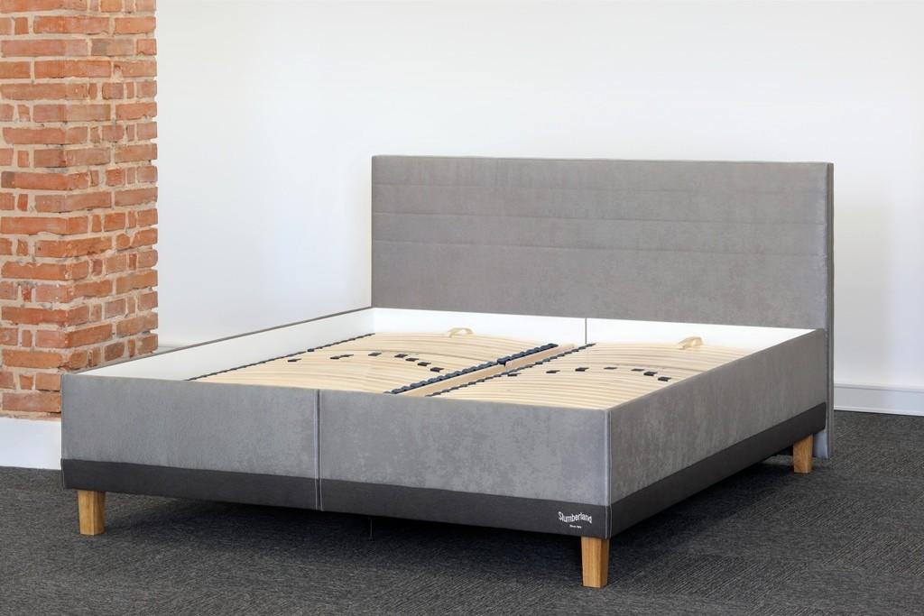 Slumberland BRISTOL - postel s úložným prostorem a lamelovým roštem 80 x 200 cm, lamino