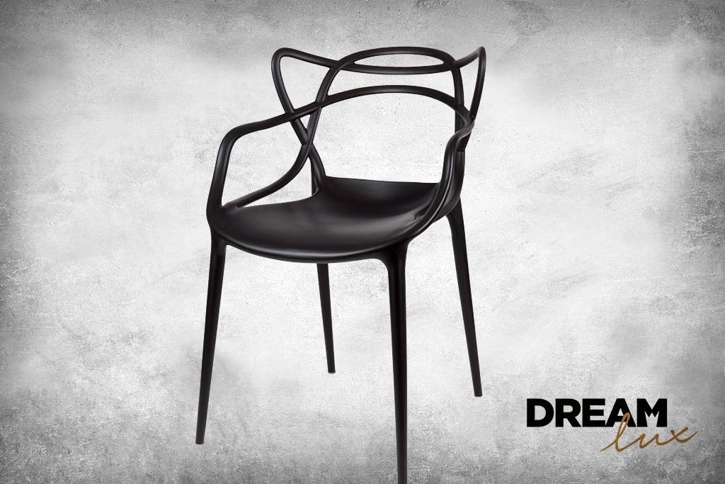 DreamLux Designová židle černá, Plast