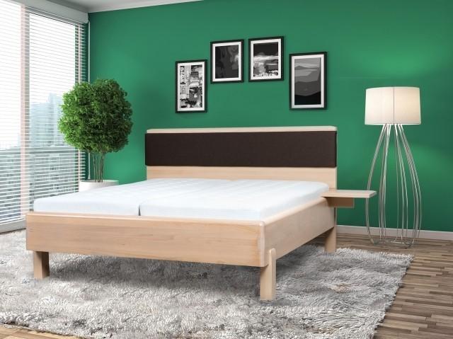 Ahorn Masivní postel GALAXY - designové dvoulůžko, buk masiv