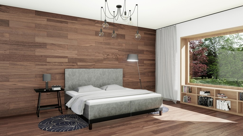 Slumberland HALIFAX - designová postel s úložným prostorem 80 x 200 cm, lamino