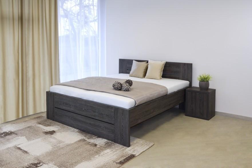Ahorn LORANO - moderní lamino postel s děleným čelem 80 x 200 cm, 38 mm lamino